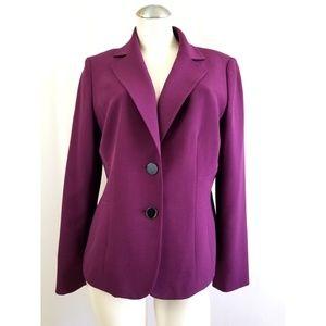 Kasper Size 12 Plum Purple Blazer
